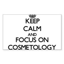 Keep calm and focus on Cosmetology Decal