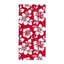 Red Hawaiian Hibiscus Beach Towel