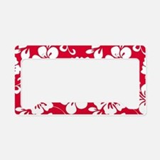 Cute Hibiscus License Plate Holder