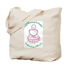 Peace Warrior Tote Bag