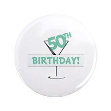"""5OTH Birthday! 3.5"""" Button"""