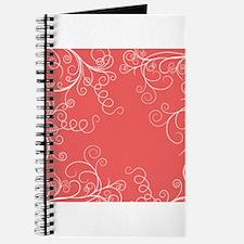 Coral Pink Swirls Journal