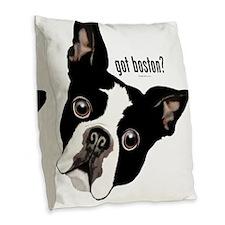 Got Boston? Burlap Throw Pillow