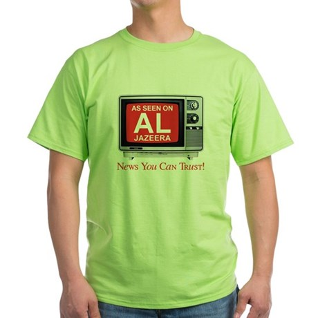 College Humor shirts Al Jazeera Green T-Shirt