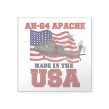 "AH-64 Apache Square Sticker 3"" x 3"""