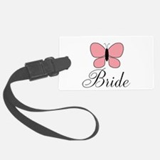 Pink Black Bride Butterfly Luggage Tag
