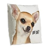 Chihuahua dog lovers Burlap Pillows