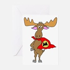 Superhero Moose Greeting Cards (Pk of 10)
