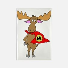Superhero Moose Rectangle Magnet