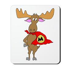 Superhero Moose Mousepad