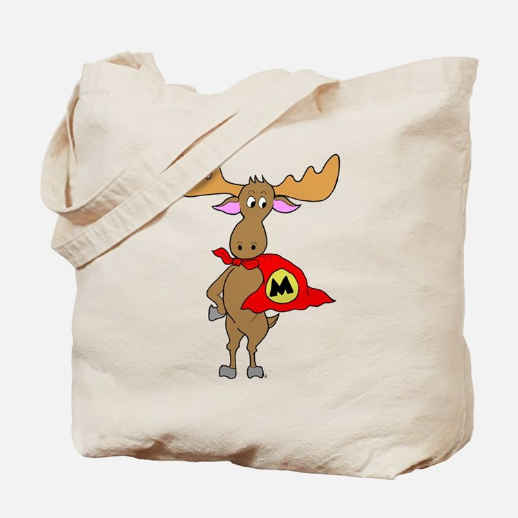 Superhero Moose Tote Bag