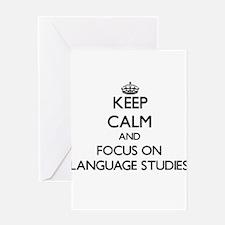 Keep calm and focus on Language Studies Greeting C