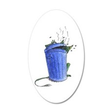 Garbage Beastie 35x21 Oval Wall Decal
