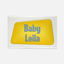 Baby Leila Rectangle Magnet