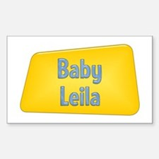 Baby Leila Rectangle Decal