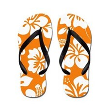 Cute Hawaiian surfer Flip Flops