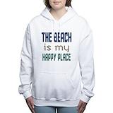 Beach is my happy place Hooded Sweatshirt