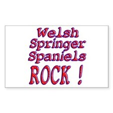 Welsh Springer Spaniels Rectangle Decal