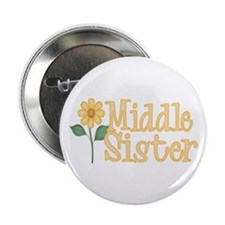 Yellow Daisy Middle Sister Button
