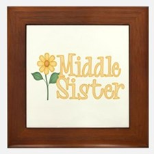 Yellow Daisy Middle Sister Framed Tile