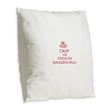 Funny Inaugural ball Burlap Throw Pillow