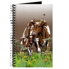 Cute Guernsey cow Journal