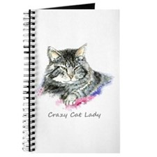 Crazy Cat Lady Fun Quote Journal