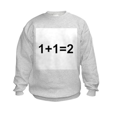 1+1=2 Kids Sweatshirt