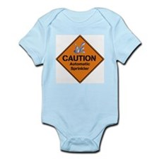 Caution Automatic Sprinkler - Infant Body Suit