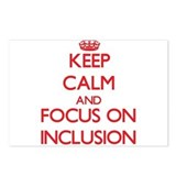 Keep calm and focus on inclusion Postcards