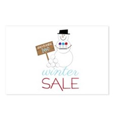 Winter Sale Postcards (Package of 8)