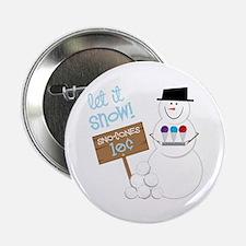 """Let It Snow! 2.25"""" Button"""