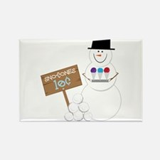 Sno-Cones Snowman Magnets