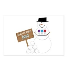Sno-Cones Snowman Postcards (Package of 8)