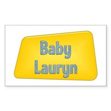 Baby Lauryn Rectangle Decal