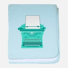Typewriter baby blanket