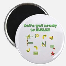 """Get Ready Rally 2.25"""" Magnet (10 pack)"""