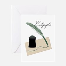 Calligrapher Greeting Cards