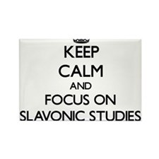 Keep calm and focus on Slavonic Studies Magnets