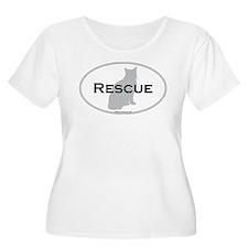 2-rescuecat Plus Size T-Shirt