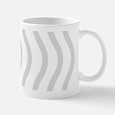 Dreamy Linen Grey Stripes Waves Mugs