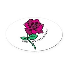 For My Valentine Oval Car Magnet