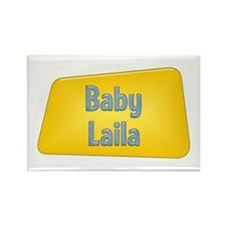 Baby Laila Rectangle Magnet (100 pack)