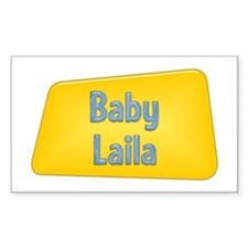 Baby Laila Rectangle Decal