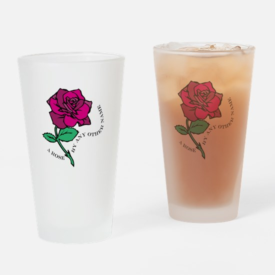 Rose By Any Other Name Drinking Glass