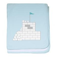 Snow Fort baby blanket