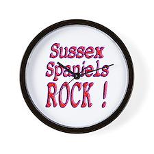 Sussex Spaniels Wall Clock