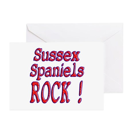 Sussex Spaniels Greeting Cards (Pk of 10)