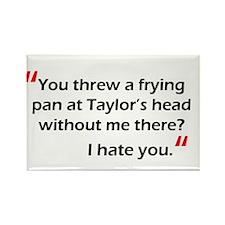 Frying Pan at Taylor Rectangle Magnet