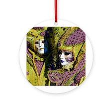 Venetian Couple Ornament (Round)